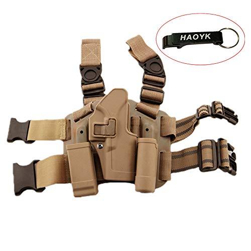 haoYK Einstellbare Tactical Airsoft Pistol Drop Bein Tasche Oberschenkel Rechten Bein Magazin Taschenlampe Beutel für Glock 17 19 22 23 31 32 (DE)