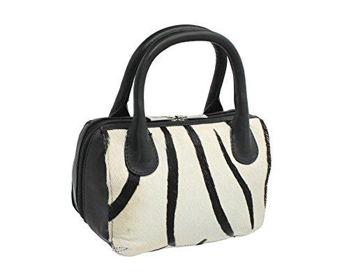 Mala Leather Ma? Ra? Borsa Da Collezione In Pelle Stampa Animalier Tomba 7105_90 Zebra Zebra