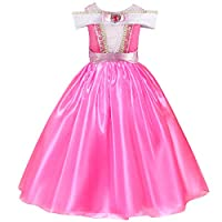 Aurora Princess Dress Sleeping Beauty Princess Costume Dress Up (Dress, Tag 140cm for 6-7Years)