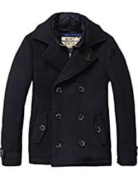 Scotch Shrunk Jungen Jacke Wollelen Caban with Fake Inner Nylon Jacket