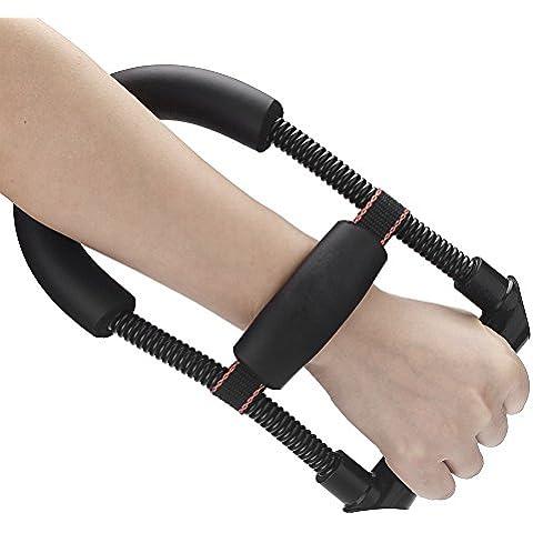 leryjoy (TM) UK Braccio a molla in acciaio regolabile di polso e avambraccio Forza flessore Forza Mano Gripper strumento di formazione per