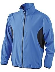 James & Nicholson - Chaqueta de running para hombre, color azul, talla M
