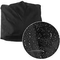 Togames-ES Cubierta de Silla de Playa al Aire Libre más Grande del tamaño 420D Cubierta de Silla Negra de Oxford del poliéster
