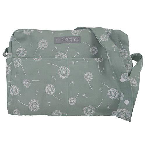 Bolsa de maternidad o para maleta hospital y para el carrito del bebé. Bolso para carro paseo. Bolso maternal o pañalera by Mimuselina (diente de leon menta)