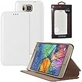 Mocca Design ERSA55 Etui flip pour Samsung Galaxy Alpha Blanc