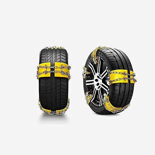 GUO Reifen Schneekette,Tragbare Reifen Anti-Rutsch Ketten Passend Für PKW, SUV & Van Reifenbreite 175-240Mm Korrosionsbeständige Anti-Rutsch Ketten