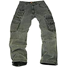 Kakadu Traders Derby resistente Outdoor Pantalones Cargo con muchos bolsillos, hombre, color gris, tamaño 40