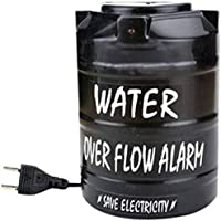 MOBONE - Water over Flow Tank Alarm with Voice Sound Overflow Bell (Black)