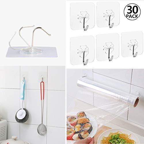 Happy-day Saugnapf-Wandhaken, stark, transparent, Saugnapf, Wandhaken für Küche und Badezimmer, weiß1, ✿ -