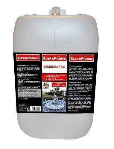 CleanPrince Brunnenrein Brunnenreiniger 5 Liter Algen Wasserklärung Reiniger Brunnen Springbrunnen Gartenbrunnen klären Brunnenklar Brunnenfresh -