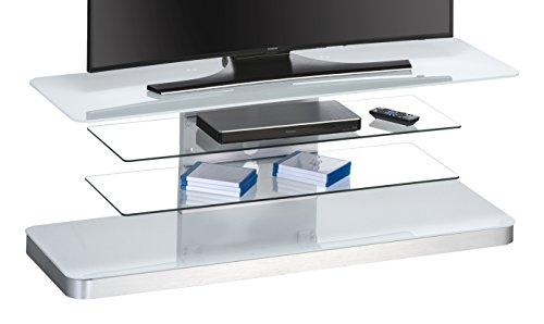 MAJA Möbel 7746 9946 TV-Rack, weißglas, Abmessungen 130 x 45,80 x 42 cm