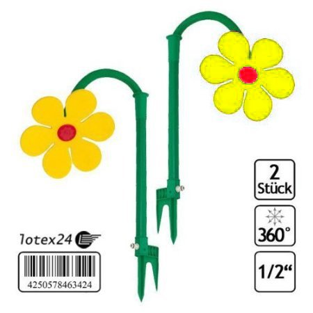 Kinderdusche 2 Stück Tanzende Blume Rasensprinkler