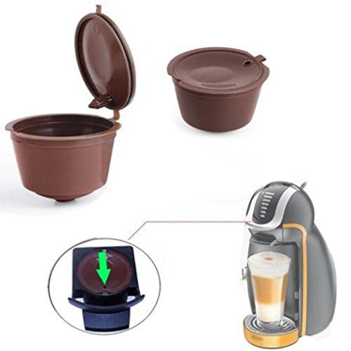 Hunpta 4pcs wiederverwendbare Kaffee Kapseln Schalen Filter für Dolce Gusto nachfüllbare Brauer (Kaffee)