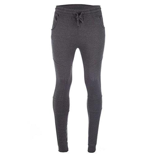 UKMiniMarket -  Pantaloni  - Uomo grigio Charcoal Marl