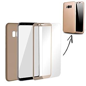 360 Grados Protección completa TPU Silicona con Vidrio a prueba de balas - oro, Samsung Galaxy Note 8 - La caja del teléfono de Finoo se distingue por su estabilidad y durabilidad. También pensamos en la pantalla y un cristal protector incluido en el...
