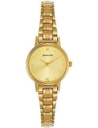 Sonata Analog Champagne Dial Women's Watch NM8096YM02 / NL8096YM02