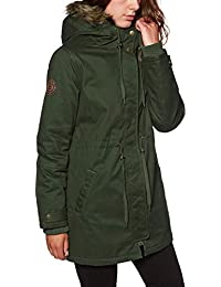Element Chaqueta Mujer Curious Twill Verde Oscuro Drab