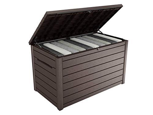270 litri KETER BOX di appoggio comfy con Cuscino Cuscino CASSAPANCA CASSAPANCA da giardino