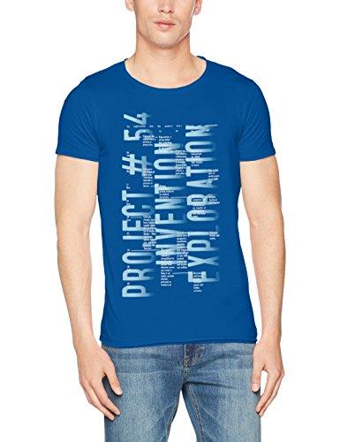Q/S designed by - s.Oliver Herren T-Shirt 40704324559 Blau (5488) Medium