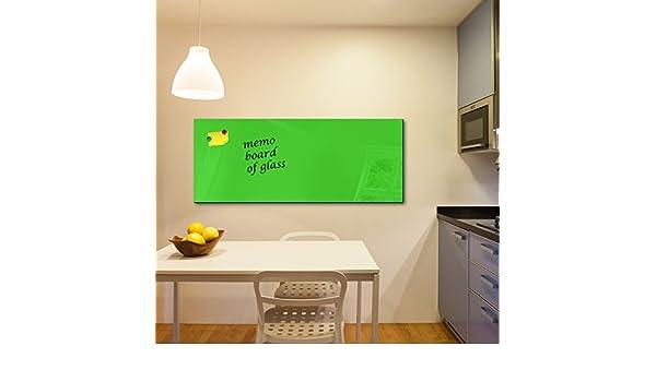 Pinnwand magnetisch Wandtafel f/ür K/üche /& Wohnzimmer DEKOGLAS Glas Magnettafel einfarbig Wei/ß FMK-01-000 Magnetwand Memoboard 125x50 cm