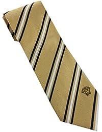 Versace Made In Italy Yellow Stripe 100% Silk Men's Tie