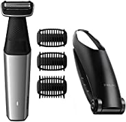 Philips Series 5000 Showerproof Body Groomer with Back Attachment and Skin Comfort System - BG5020/13 - Intern