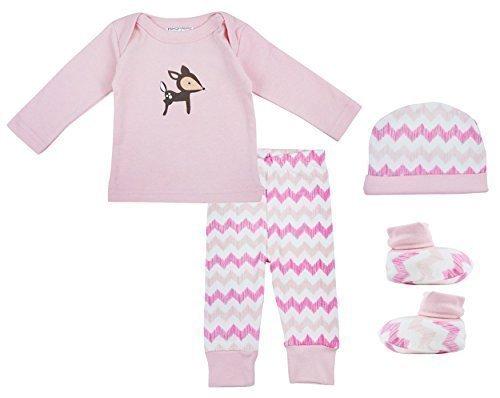 Hat Oberteil Hose & Babystiefelchen Geschenkbox Set größe Neugeborene bis 6 Monate - Rose, 56-68, Rosa (Super Bunny Kostüme)