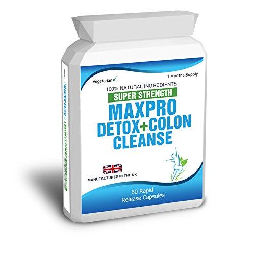 Body Smart Herbals - 60 Max Cleanse Pro Colon Cleanse Detox - zur Reinigung des Darms vor einer Diät