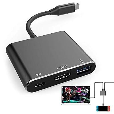 HDMI Adapter for Nintendo Switch, 1080P USB C HDMI Converter Type C Hub Adapter for Nintendo Switch - Support MacBook Pro/Samsung Galaxy S8/Google Pixel