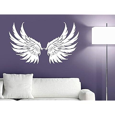 Etiqueta engomada del vinilo adhesivo de la pared decoración diseño de alas de ángel de la guarda dios pájaro grande para niños infantil de la sala de estar (r1154)