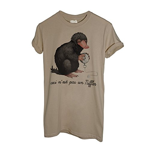 MUSH T-Shirt Fantastic-Niffler Magritte Animals - Film by Dress Your Style - Damen-XL-Beige