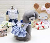 Welpen-Pullover Frühling und Sommer neue Haustierkleidung Hundekleidung Teddy Hund? Rock klassischen Seemann Rock (Farbe: Pink, Größe: S) Haustier Mantel (Farbe : Blau, Größe : L)