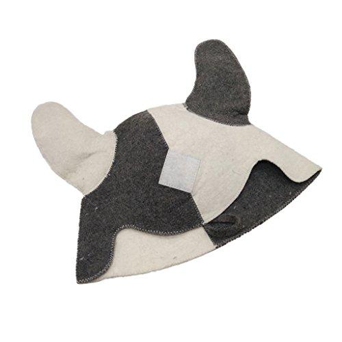 MagiDeal Saunamütze / Saunahut / Saunakappe aus Filz, Sauna Zubehör, Hut Mütze Kappe Kopfbedeckung für Sauna - # 7