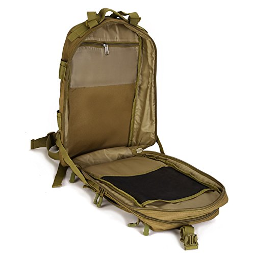 cinmaul Military MOLLE Rucksack Tactical Gear Tasche groß Assault Pack für die Jagd Camping Trekking Coyote Brown