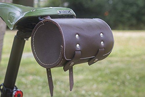 L09 - Sillín de Piel para Bicicleta, Diseño de Londres