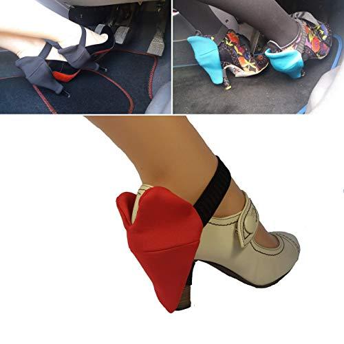 Protezioni tallone per le donne a guidare senza tacchi graffiati, guida in tacchi,prevenzione dei graffi-perfetto per le donne guidatrici-cuore larga tacco coperture