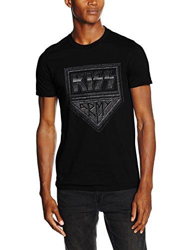 CID Kiss-Army Distressed, T-Shirt Uomo, Nero, Small