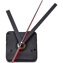 Mudder Reloj con Movimiento,Reloj Agujas,Minutero Segundero,Cuarzo Reloj Herramienta de Reparación DIY,DIY Reloj de Cuarzo con Negra Mano