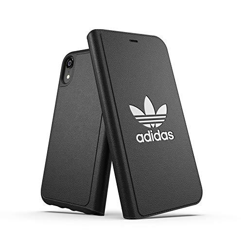 Adidas Schwarz Folien (Adidas Booklet Basic Handytasche 15,5 cm (6,1 Zoll) Folio schwarz - Handyhüllen (Folie, Apple, iPhone XR, 15,5 cm (6,1 Zoll), schwarz))