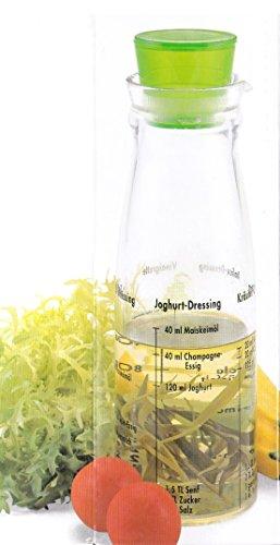 Salat Sauce Vinaigrette Dressing Maker Shaker Mixer Messbecher Flasche