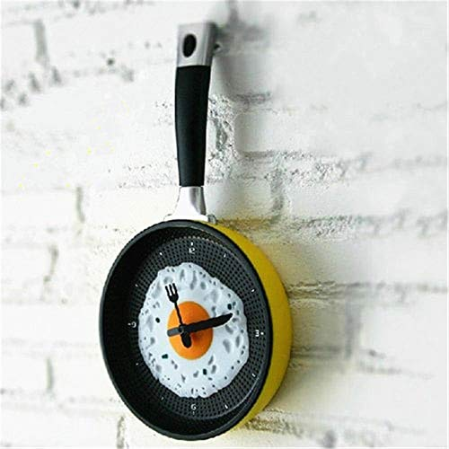 TAOtTAO Flache untere Topf Omelettes Clock Bar Decor Persönlichkeit Taschenuhr Wanduhr Pan Omelet Clock Bar dekorieren Persönlichkeit Taschenuhr Wanduhr (B)
