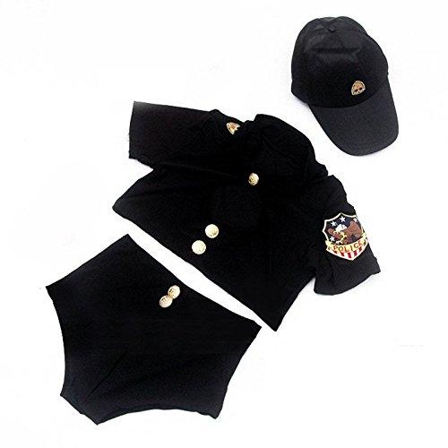 Paplan Uniform Temptation Split Cosplay Stewardess Polizistin Kleidung Schwarz