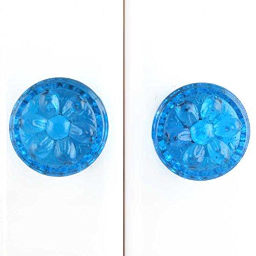 Indianshelf Handmade 10 Stück Glas Royal Blue Power Drum künstlerische Schublade Knöpfe Kommode Schrank zieht Möbel Kleiderschrank Türgriffe handgefertigte Designer Vintage Gfks-110 (Drum Schublade)