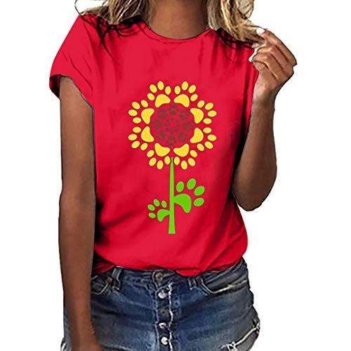 Mädchen Drucken T-Shirt Freizeit O-Kragen Kurze Ärmel Top - Gillette-vintage