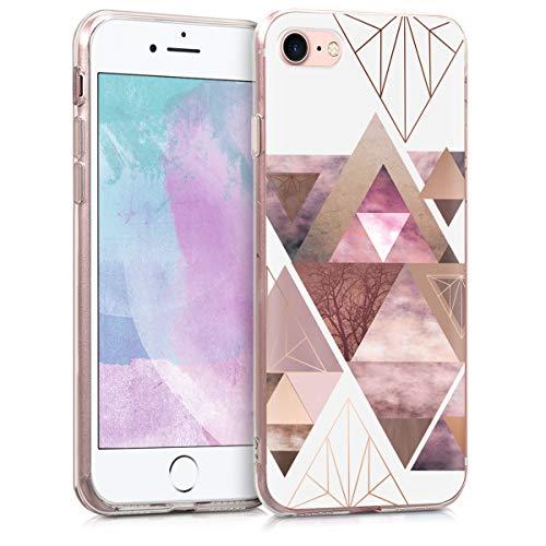 kwmobile Apple iPhone 7/8 Hülle - Handyhülle für Apple iPhone 7/8 - Handy Case in Rosa Rosegold Weiß -