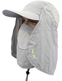 DSstyles Sombrero Sun 360 ° UV 50+ Protección Sombreros Gorra de Sol con  máscara de c6117ba73f8