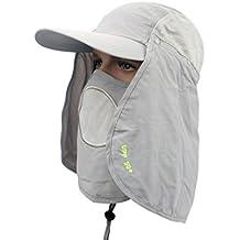 DSstyles Sombrero Sun 360 ° UV 50+ Protección Sombreros Gorra de Sol con  máscara de 9c4f188040c