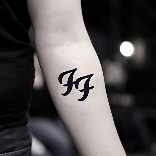 Foo Fighters etiqueta engomada falso temporal del tatuaje (Juego de 2) - TOODTATTOO.COM