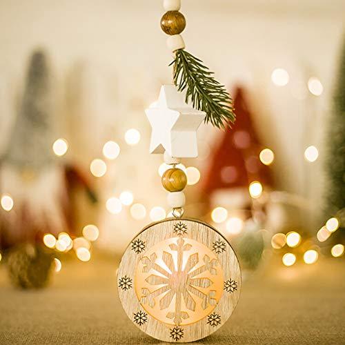 TianranRT Helle Halloween-Dekoration,Dekoratives Licht Macht Hölzernen Weihnachtsbaum-Anhänger Mit Der Hellen Verzierungs-Kreativen Art-Inneneinrichtung In Handarbeit,Mehrfarbig