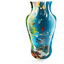 sourcingmap® Acrylic Vase Shaped Wall Mounted Hanging Fishbowl Plant Pot 7.1inch High/1Gallon